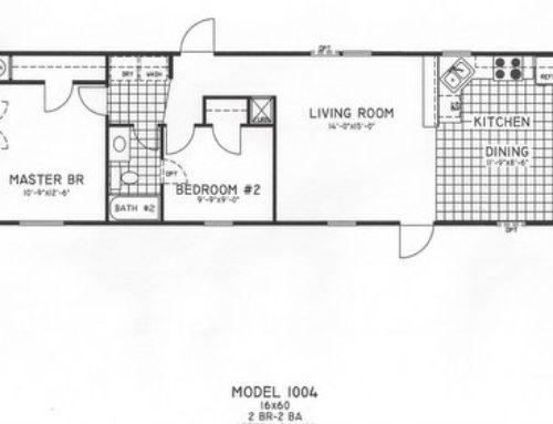 2 Bedroom Floor Plan: C-9009