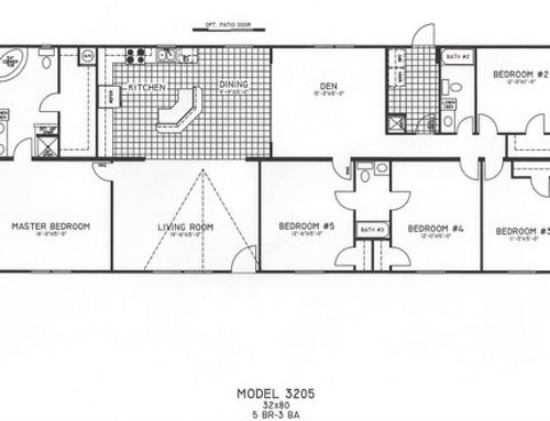 5 Bedroom Floor Plan: C-3205