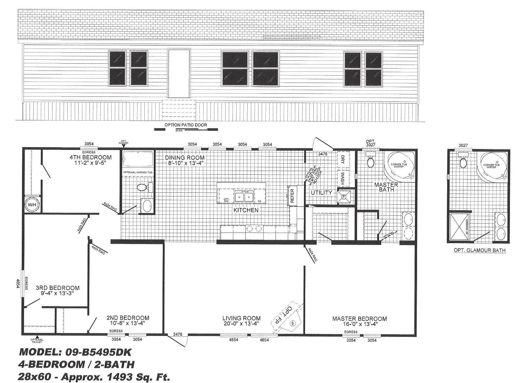 4-Bedroom Mobile Home Floor Plans