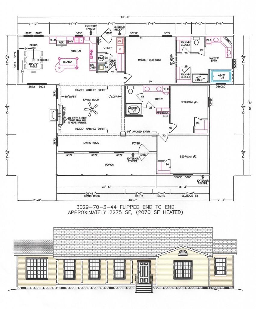 3 Bedroom Floor Plan F-3029 - Hawks Homes
