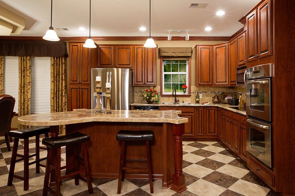 large kitchen floor plans 3 bedroom floor plan f 3029 hawks homes manufactured modular