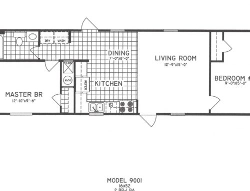 2 Bedroom Floor Plan  C-9001