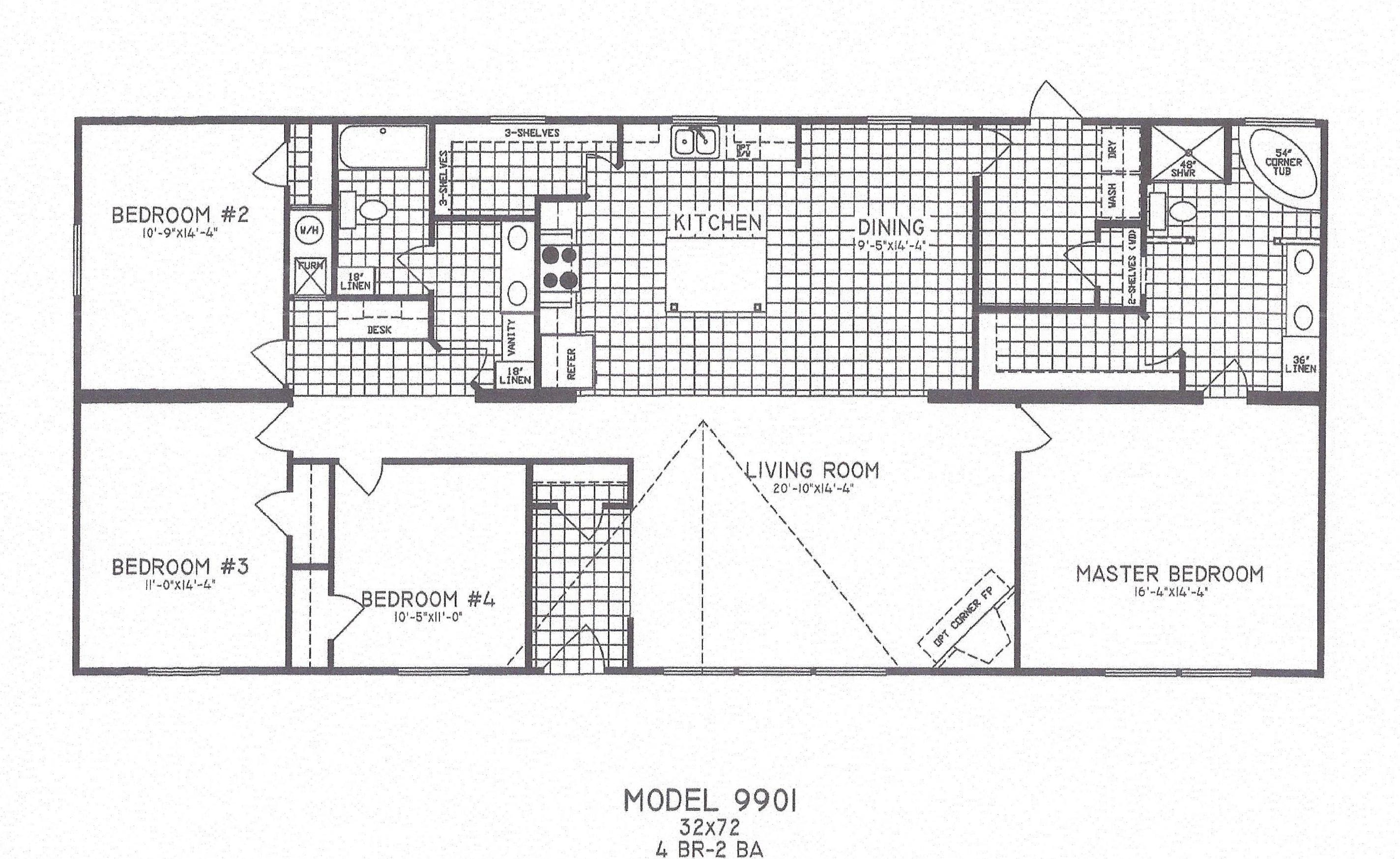 4 bedroom floor plans joy studio design gallery best for 4 bedroom mobile home floor plans