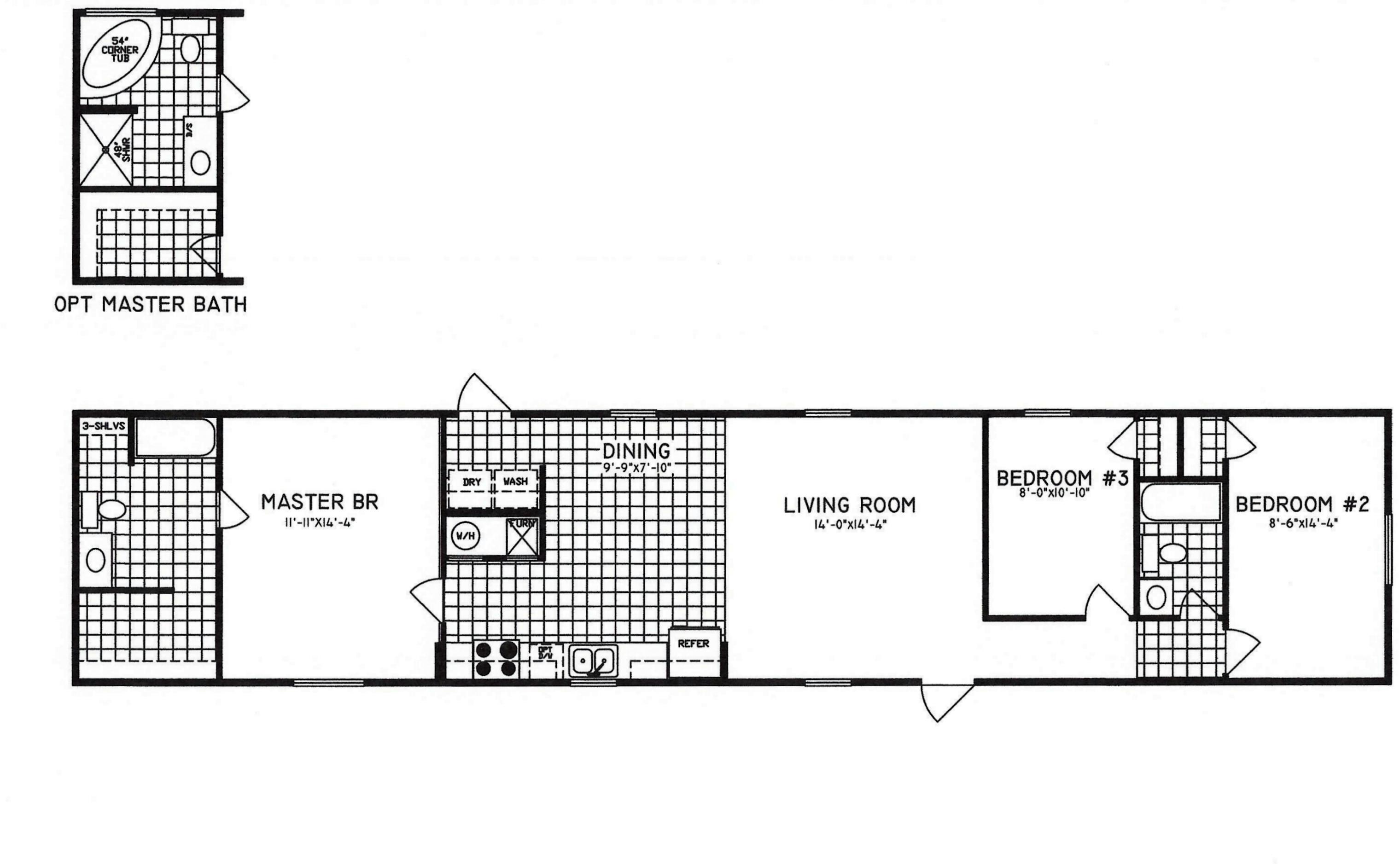 Bedroom floor plan c 8001 hawks homes manufactured amp modular
