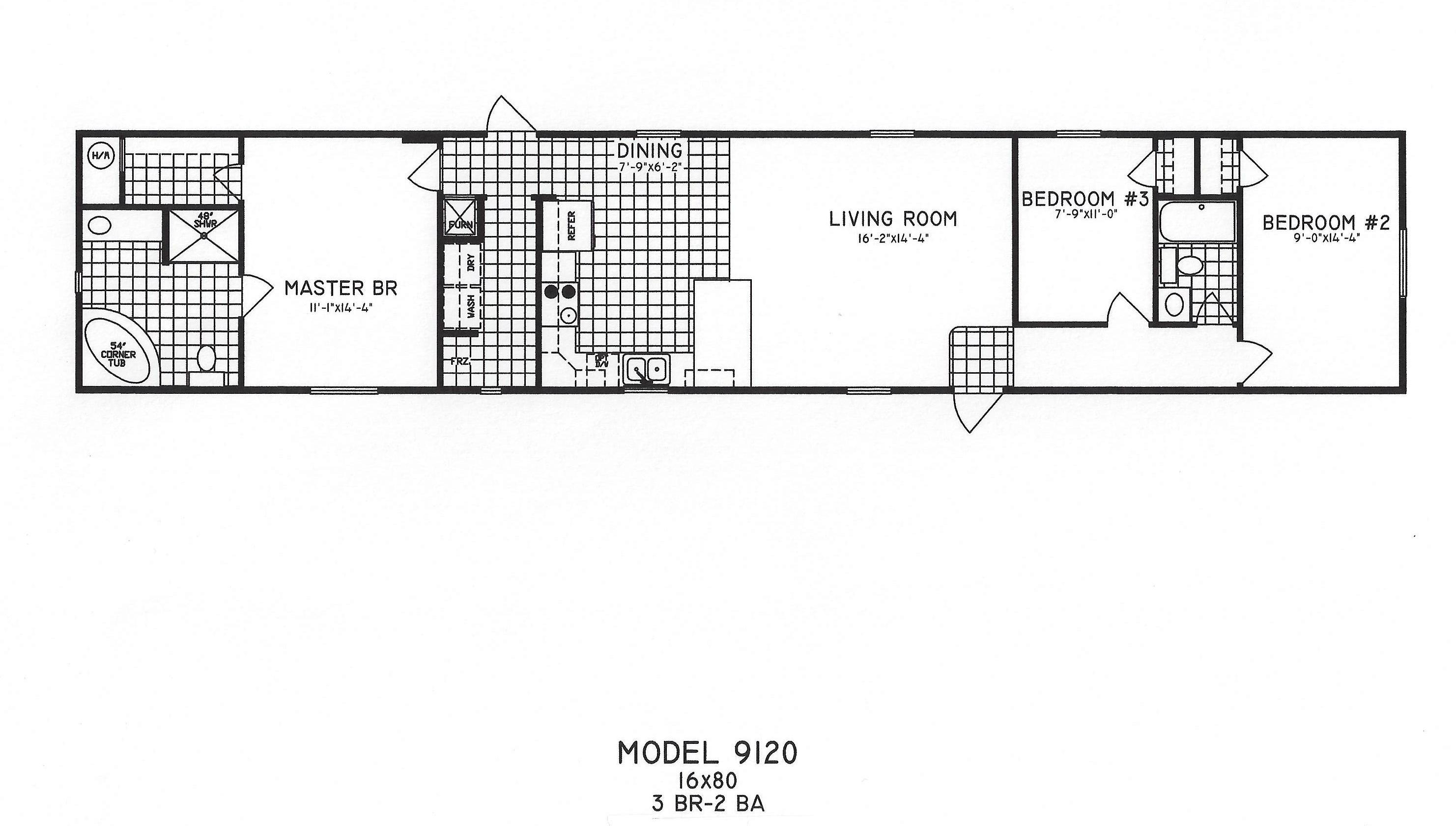 3 bedroom floor plan c 9120 hawks homes manufactured 3 bedroom modular home floor plans