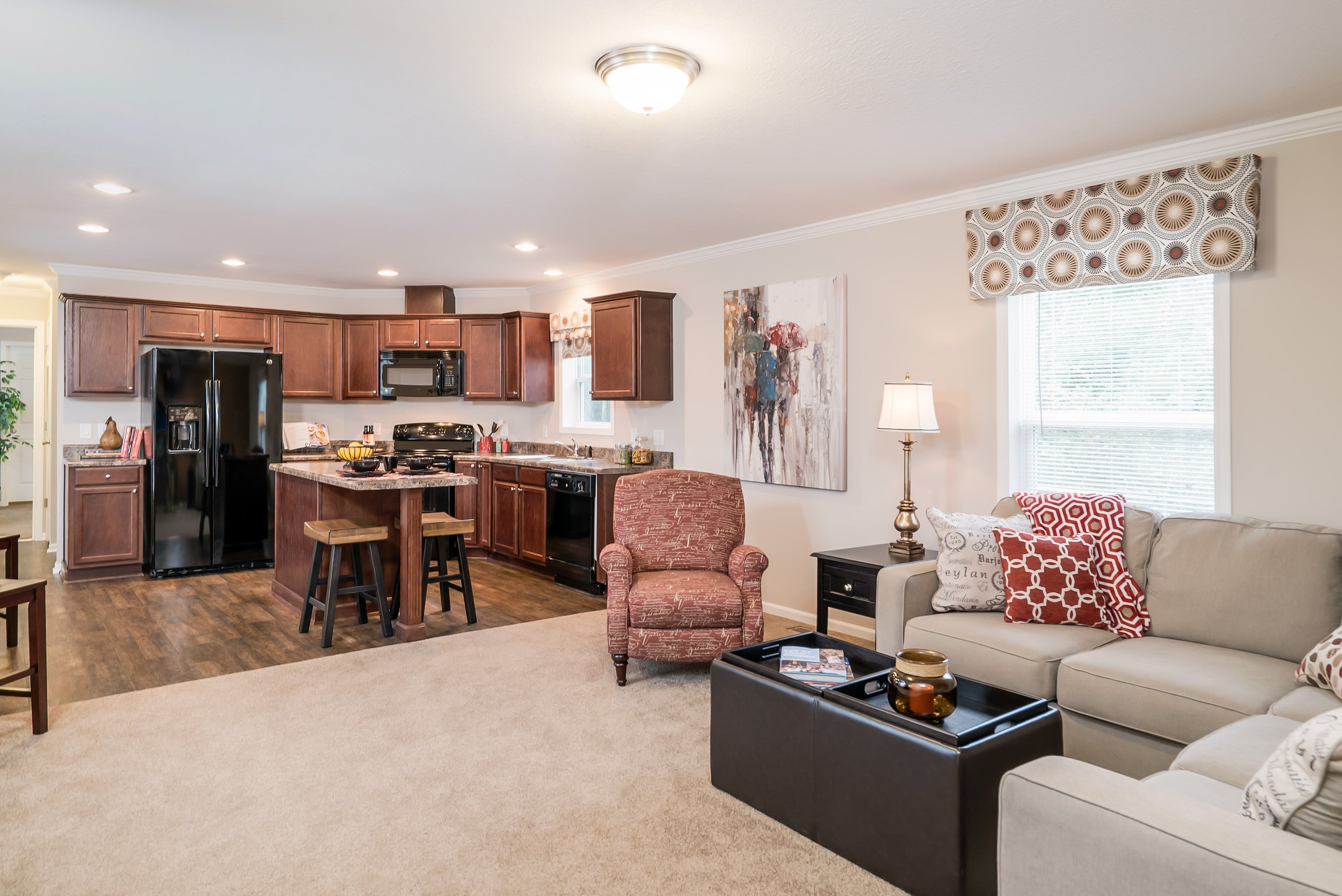3 bedroom floor plan f 401 hawks homes manufactured modular 16 80 3 2 with an open floor plan it has finished sheetrock walls through out 8 flat ceilings perimeter vents upgraded cabinets and insulation