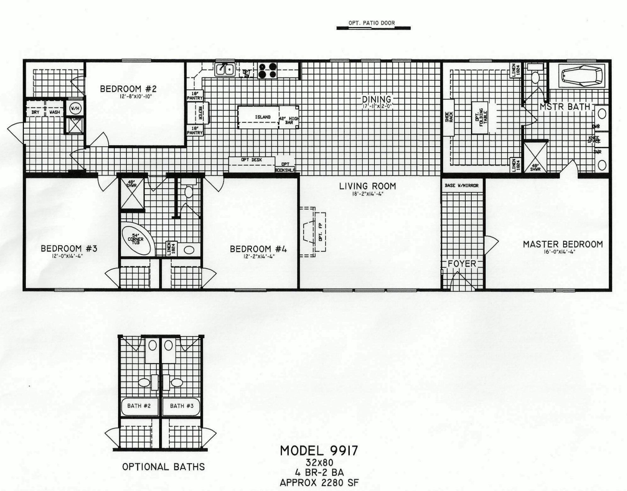 3 Bedroom Modular Floor Plans