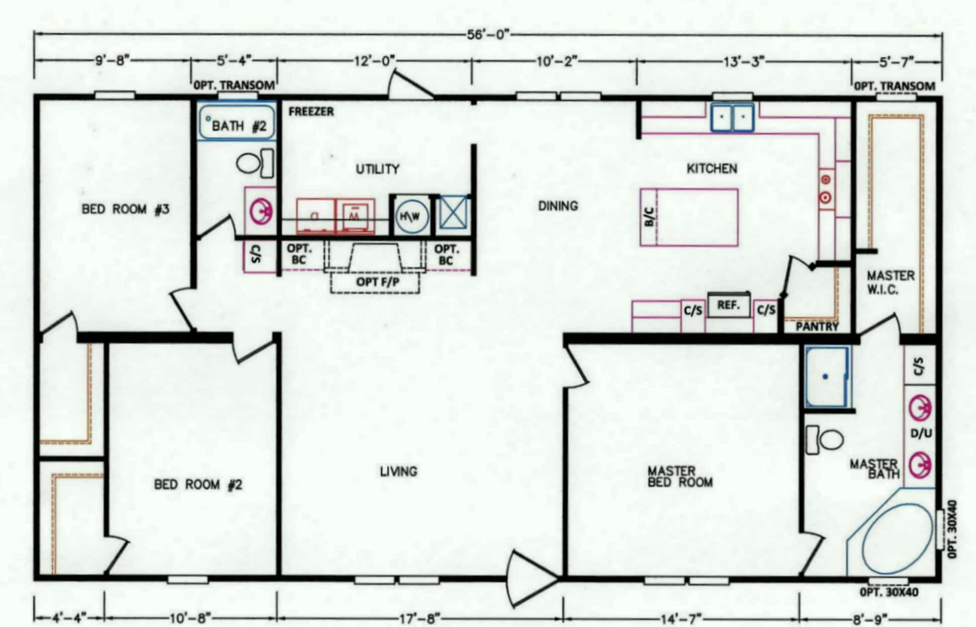 3 bedroom floor plan k 26 hawks homes manufactured 3 bedroom modular home floor plans