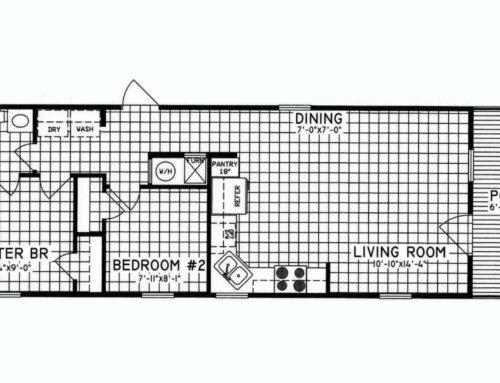 2 Bedroom Floor Plan: C-7101