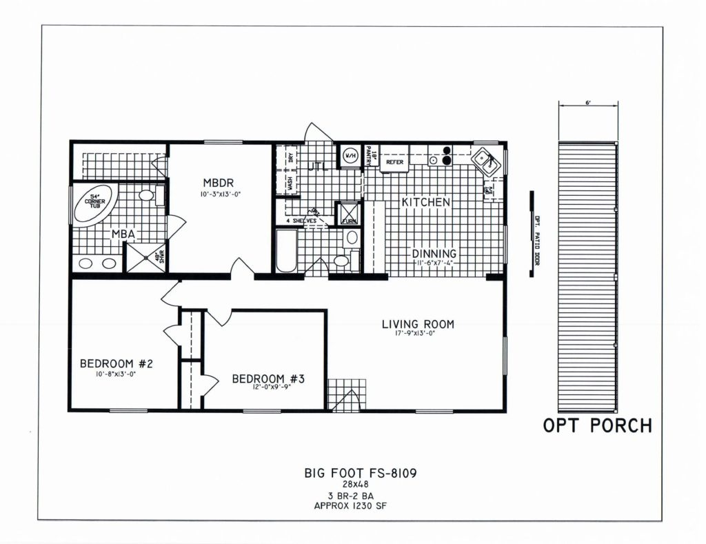 3 bedroom floor plan c 8109 hawks homes manufactured 3 bedroom modular home floor plans