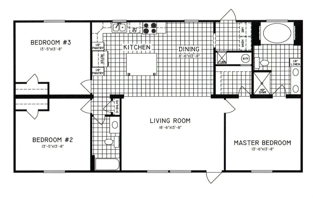 3 Bedroom Floor Plan C 8105 Hawks Homes