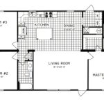 3 Bedroom Floor Plan: C-8105