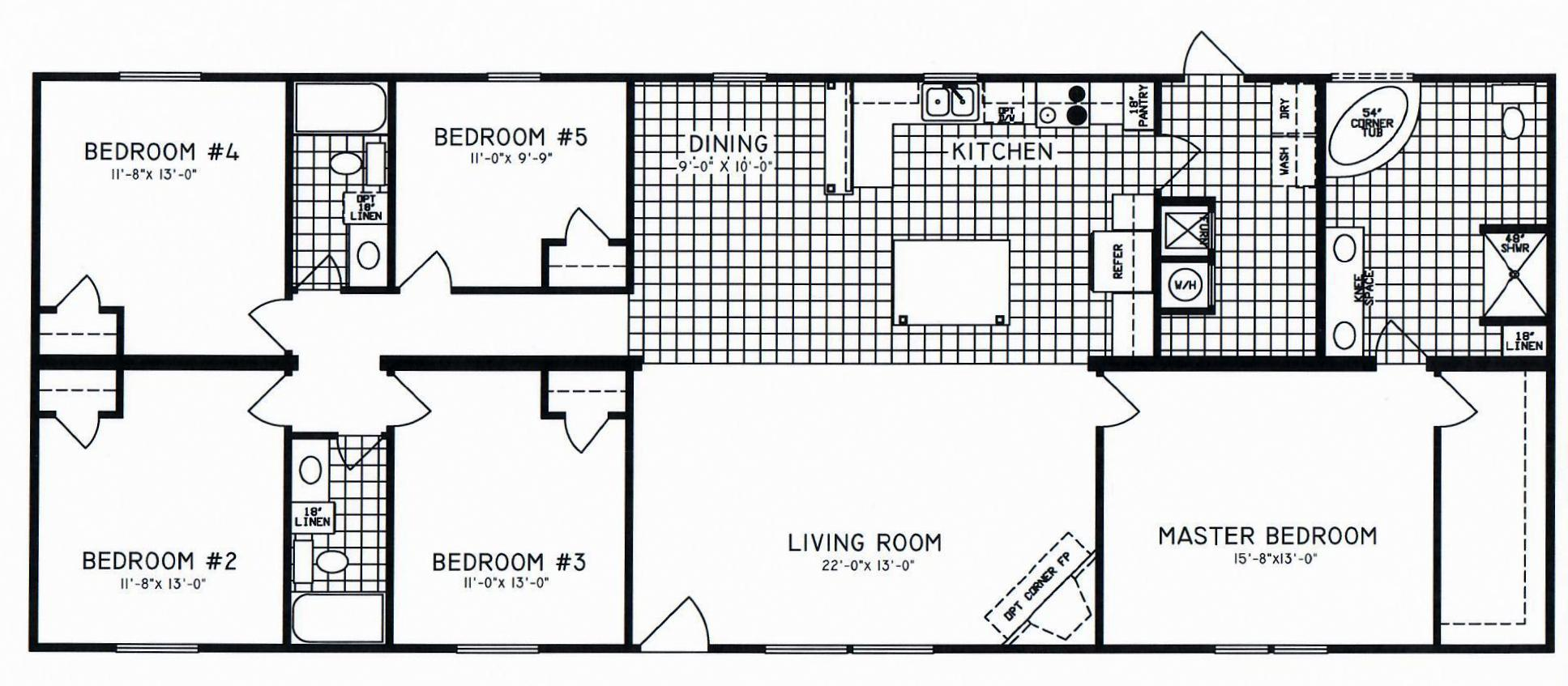 5 Bedroom Floor Plans Modular And Manufactured Homes Archives Hawks Homes