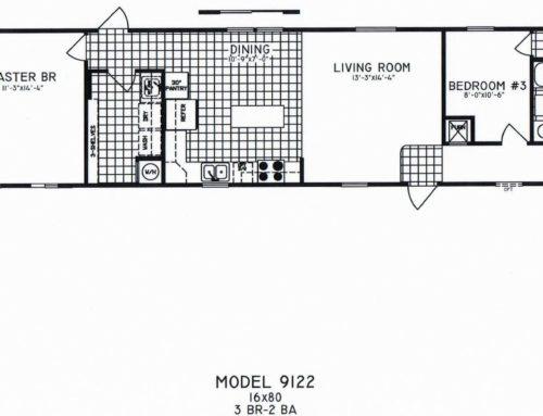 3 Bedroom Floor Plan: C-9122