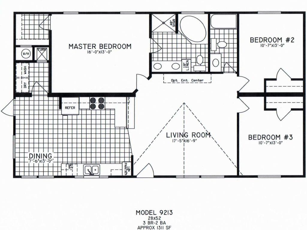 3 Bedroom Floor Plan C 9213 Hawks Homes