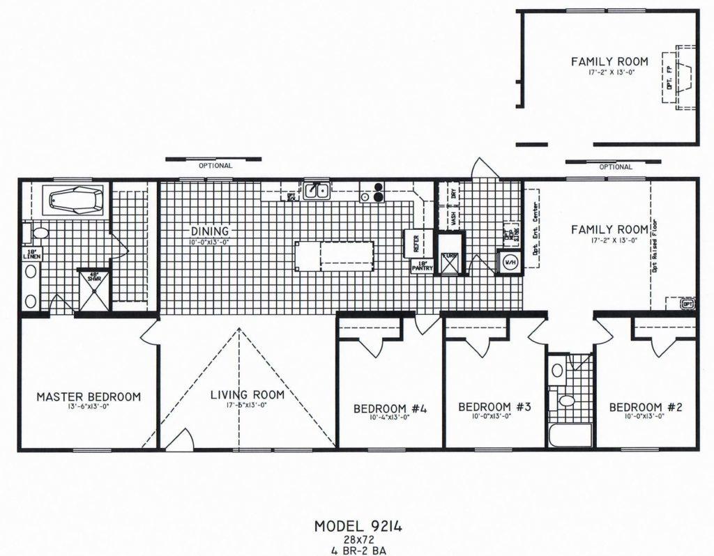 4 Bedroom Floor Plan: C-9214 - Hawks Homes   Manufactured ... on modular homes craftsman bungalow, trailer floor plans, simple ranch floor plans, townhouse floor plans, three bedroom floor plans, house plans, modular homes inside look, manufactured housing floor plans, modular home plans and gallery, modular homes ohio, orleans homes floor plans, modular home plans and prices, modular ranch homes, modular luxury homes, modular construction, 4 bedroom modular home plans, american dream home plans, modular log homes, southern floor plans,