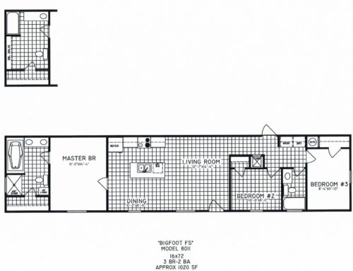 3 Bedroom Floor Plan: C-8011