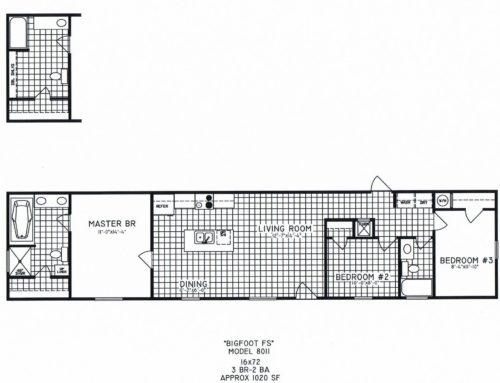 3 Bedroom Floor Plan: C-8011