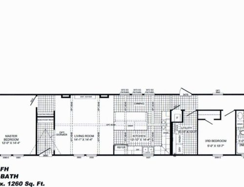 "3 Bedroom Floor Plan: ""The Bobby Jo"""