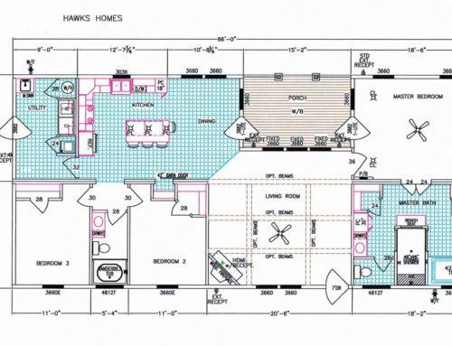 """3 Bedroom Floor Plan: F-510 """"The Conway"""""""