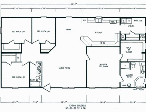4 Bedroom Floor Plan: K-MD-27