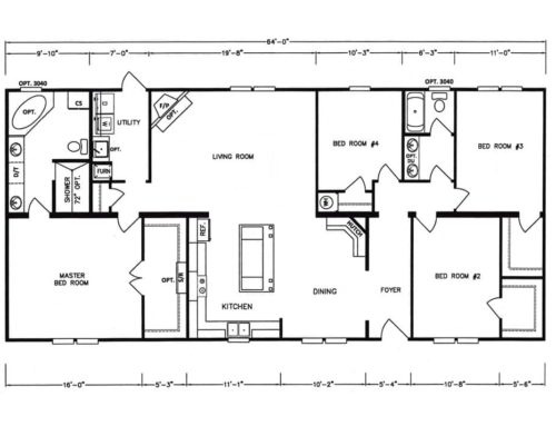 4 Bedroom Floor Plan: K-MD-38