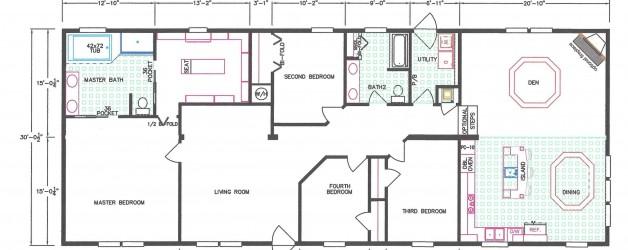 4 Bedroom Floor Plan F-663