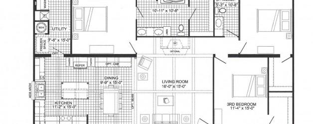 3 Bedroom Floor Plan B-6711