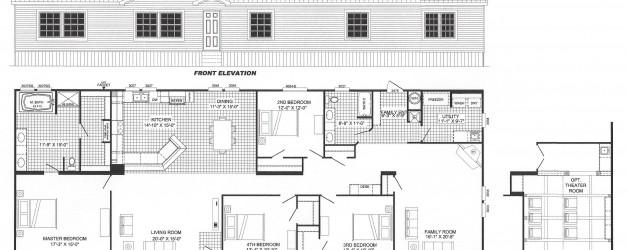 4 Bedroom Floor Plan: B-6015