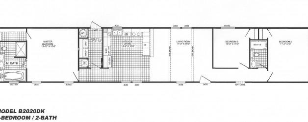 3 Bedroom Floor Plan: B-2020
