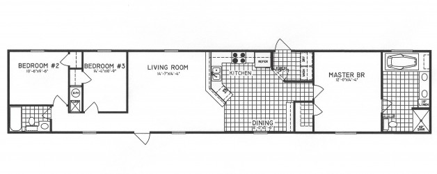 3 Bedroom Floor Plan: C-1302