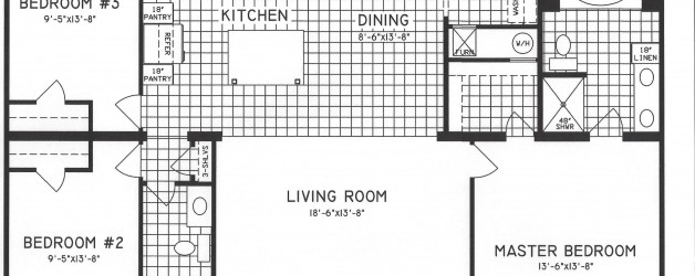 3 Bedroom Floor Plan: C-8103