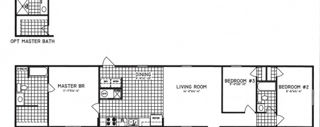 3 Bedroom Floor Plan: C-8001