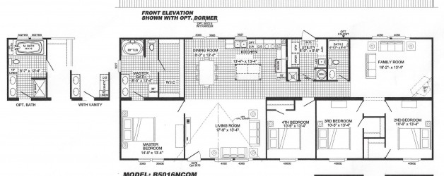 4 Bedroom Floor Plan: B-5016