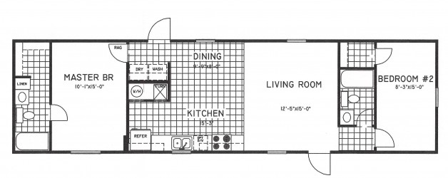 2 Bedroom Floor Plan: C-8000