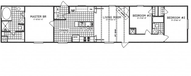3 Bedroom Floor Plan: C-9113