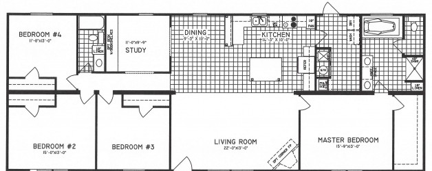 bedroom floorplans modular and manufactured homes in ar