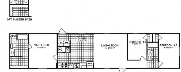 3 Bedroom Floor Plan: C-8001