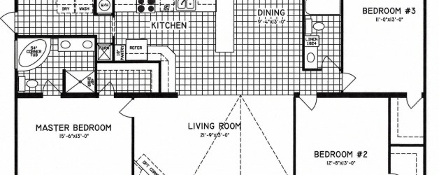 3 Bedroom Floor Plan: C-9809