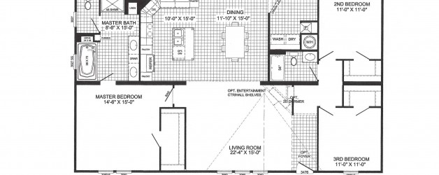 3 Bedroom Floor Plan: B-6021