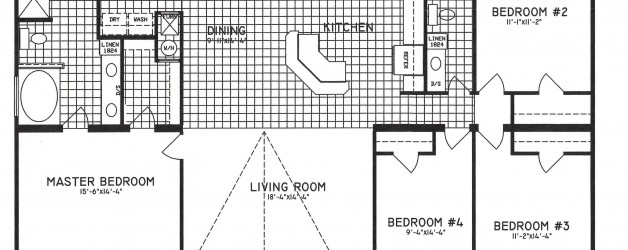 4 Bedroom Floor Plan: C-9301