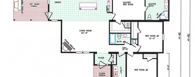 3 Bedroom Floor Plan: F-5039