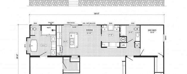 3 Bedroom Floor Plan B-2856 Pat