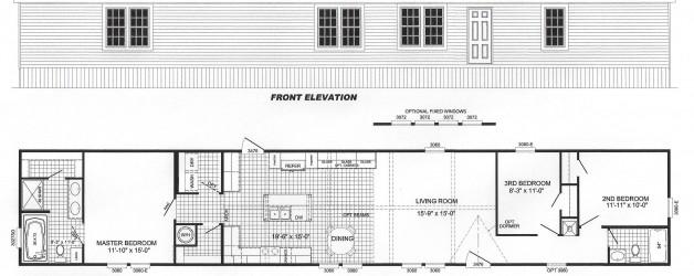 3 Bedroom Floor Plan: B-2026