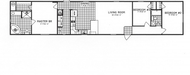 3 Bedroom Floor Plan C-9120
