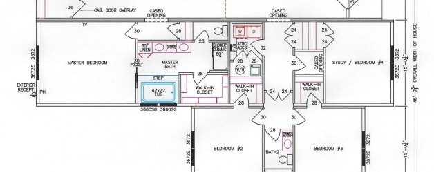 4 Bedroom Floor Plan: F-3033