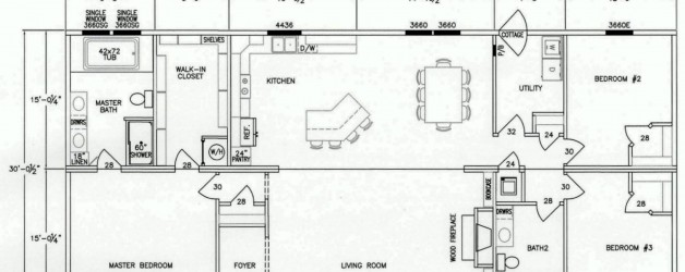 3 Bedroom Floor Plan: F-1002