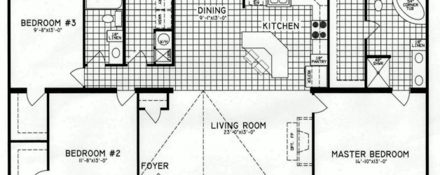 3 Bedroom Floor Plan: C-9816
