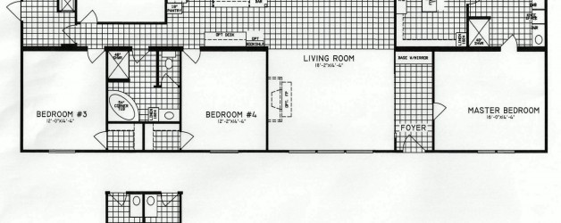 4 Bedroom Floor Plan: C-9917