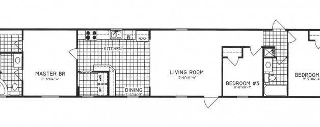 3 Bedroom Floor Plan: C-9719